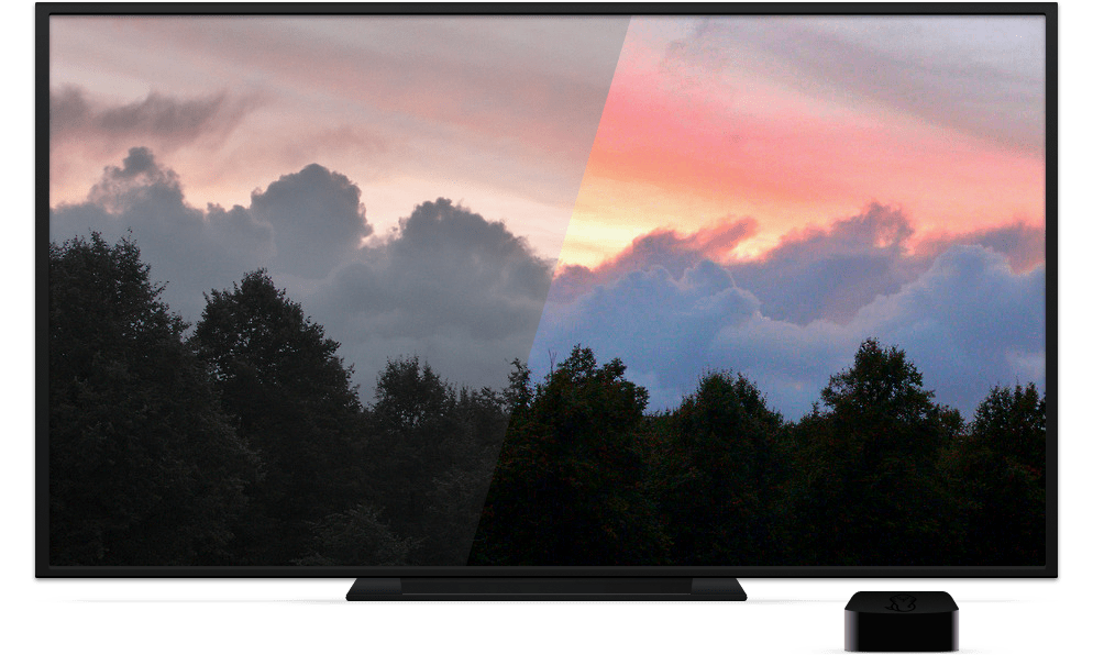 HDR content displayed using the COPRA Apple TV app